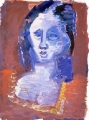 "P13 - ""Woman's Head"" by Victor Thall 8 x 11 inches Oil on Paper"