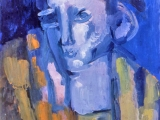 "P17 - ""Pensive Head"" by Victor Thall 11 x 14 inches Oil on Paper"