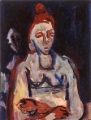 "P47 - ""Woman with Red Hair"" by Victor Thall 8 x 11 inches Oil on Paper"