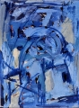 "P53 - ""Abstraction"" by Victor Thall 8 x 11 inches Oil on Paper"