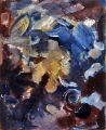 "P60 - ""Abstraction"" by Victor Thall 14 x 17 inches Oil on Paper"