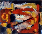 "P61 - ""Abstraction"" by Victor Thall 10 x 13 inches Oil on Paper"