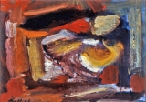 "P62 - ""Abstraction"" by Victor Thall 11 x 15 inches Oil on Paper"