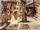 "P85 - ""Cagnes"" by Victor Thall 8 x 11 inches Mixed Media on Paper"
