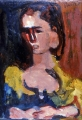 "P119 - ""Girl"" by Victor Thall 11 x 15 inches Oil on Paper"