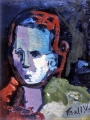 "P128 - ""Boy's Head"" by Victor Thall 8 x 11 inches Oil on Paper"