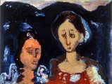 "P148 - ""Two Women"" by Victor Thall 16 x 20 inches Oil on Paper"