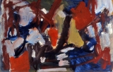 "P155 - ""Abstraction"" by Victor Thall 20 x 26 inches Oil on Paper"