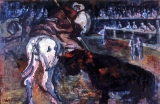 "P159 - ""Picador"" by Victor Thall 20 x 30 inches Oil on Paper"