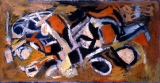 "027 - ""Abstraction"" by Victor Thall 24-1/2 x 48 inches Oil on Masonite"