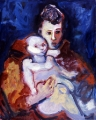 "053 - ""Franciscan and Child (Mother & Child)"" by Victor Thall 24 x 30 inches Oil on Canvas"