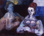 "059 - ""Two Women"" by Victor Thall 24 x 30 inches Oil on Canvas"