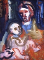 "067 - ""Mother and Child"" by Victor Thall 20 x 24 inches Oil on Canvas"
