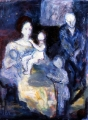 "077 - ""Family Group"" by Victor Thall 16 x 20 inches Oil on Canvas"