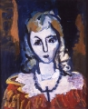 "081 - ""Woman with Cross"" by Victor Thall 20 x 24 inches Oil on Canvas"